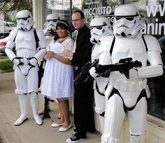 Star Wars wedding at a comic book store