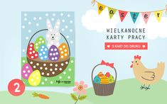 Wielkanocne karty pracy - wyklejanka wielkanocny koszyk