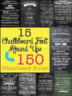 Lots of chalkboard fonts! The Scrap Shoppe: Mega Chalkboard Font Round Up! Chalk Fonts, Chalkboard Typography, Typography Fonts, Typography Design, Chalkboard Signs, Kitchen Chalkboard, Chalkboard Drawings, Black Chalkboard, Chalkboard Ideas