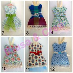 Profumatori per armadio a forma di abitino: riuso creativo stoffe, nastri, pizzi e minuteria di recupero. https://www.etsy.com/listing/190104755/decorative-mini-dress-for-girl-wardrobe