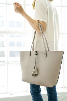 Sole Society's reversible Campbell tote is the perfect day to night bag.