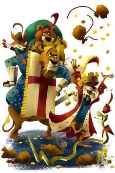King Richard & Prince John by Kasidej Hempromaraj Walt Disney Pixar, Disney Fun, Disney And Dreamworks, Disney Movies, Disney Stuff, Animation Film, Disney Animation, Robin Hood 1973, Disney Animated Films