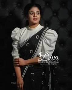 65 Stylish and Trendy Blouse Designs For Saree and Lehenga Here are a few blouse designs and patterns which would help you create a style statement in any function and leave other women in amaze. Blouse Back Neck Designs, Sari Blouse Designs, Saree Blouse Patterns, Fancy Blouse Designs, Designer Blouse Patterns, Stylish Blouse Design, Stylish Dress Designs, Saree Designs Party Wear, Saree Wearing Styles
