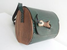 Vintage leather bag Unique Leather Bag With Wooden sides  CrossBody Bag Embossed leather by TheFashionObsession on Etsy https://www.etsy.com/listing/184900397/vintage-leather-bag-unique-leather-bag