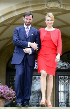 Prince Guillaume of Luxembourg, and fiancee Countess Stephanie de Lannoy