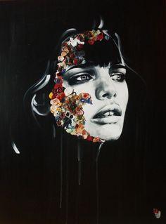 """sandrachevrier.com →    Artist:    Sandra Chevrier    """"La Cage: Arc-en-ciel Maladif""""    48 X 36, 2013."""