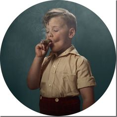 """Here's a gallery of smoking children. The ones in the circles are from Frieka Janssen's """"Smoking Kids"""" series. I believe the children are our future, do not kill them with second hand smoke. First hand smoke is far more effective. Photography Projects, Portrait Photography, Artistic Photography, Amazing Photography, Travel Photography, Smoking Photos, Janssen, Kids Series, Glamour Shots"""