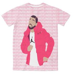 Drake HotlineBling 3D Sublimation Print T-shirt - OGV Shop