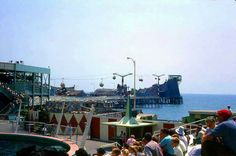 Pacific Ocean Park (POP), circa The Ocean Skyway bubble-shaped gondolas traveled mile out to sea and back Sky Ride, California Location, Ocean Park, Tourist Trap, Out To Sea, City Of Angels, Great Shots, Life Photo, Pacific Ocean