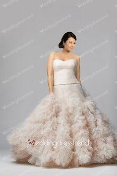 [$238.00] Ideal Princess Sweetheart Ruffles Plus Size Wedding Dress