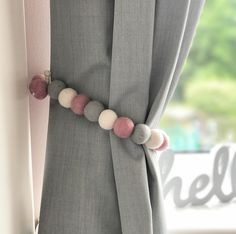 Our Felt Ball Pom Pom garlands can be also used a curtain tie backs. Our Felt Ball Pom Girls Bedroom Curtains, Nursery Curtains, Home Curtains, Kids Curtains, Master Bedroom, Light Bedroom, Modern Curtains, Diy Bedroom, Vintage Curtains