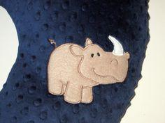 Boppy Slipcover, Boppy Cover, Rhino, Zoo Animal, Safari Animal, Minky, Baby Gift, Custom Baby Item, Nursing Pillow Cover, Can Personalize