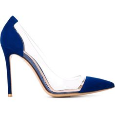 Gianvito Rossi Plexi Pumps (7.950.595 IDR) ❤ liked on Polyvore featuring shoes, pumps, blue, pointy toe pumps, stiletto pumps, stiletto heel pumps, heels stilettos and pointy toe stiletto pumps