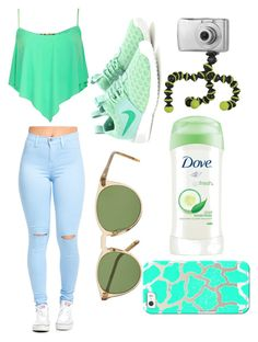 """""""Untitled #570"""" by kyrapples on Polyvore featuring Pilot, NIKE, Oliver Peoples, Joby, Dove and Casetify"""
