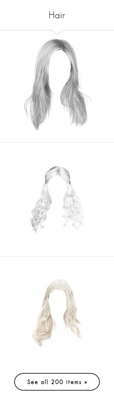 """Hair"" by cherry-on-top-official ❤ liked on Polyvore featuring hair, cabelo, doll hair, beauty products, haircare, hair styling tools, blonde hair, wigs, dolls and hairstyles"