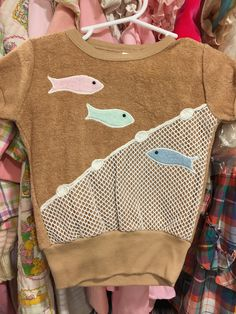70s Terry Cloth Fishy Shirt 2/3T by lishyloo on Etsy