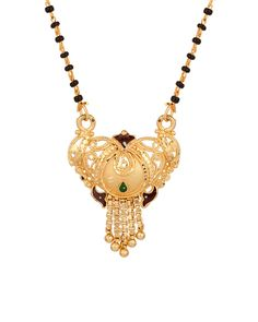 Single Chain Mangalsutra with Fancy Design, Gold Tone