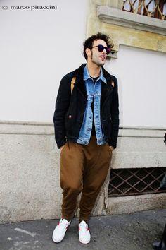 Marco alla settimana della moda milano