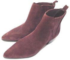 330ebca3976 Women s Safarri Chelsea Booties Dark Red Suede leather US 5M NEW ONLY ONE  HURRY  GUESS  Booties