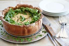 Savory Broccoli and Spinach Cheesecake
