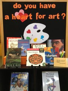 Library Displays: Do you have a heart for art?