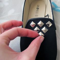 Make your own TopShop inspired studded loafers. A quick and easy tutorial that transforms plain loafers to your new favourite kicks!