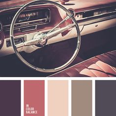 Beautiful, sophisticated palette. Dark colors diluted noble dull shades - red-brown, pastel pink, gray. They refresh and balance composition. This choice of colors will appeal calm, seasoned ladies who do not tolerate distractions from work catchy colors. This range is good for registration of working room in the house, office space.