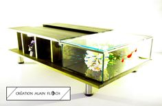 Table de salon aquarium ANASTAR | Table basse aquarium terrarium ...