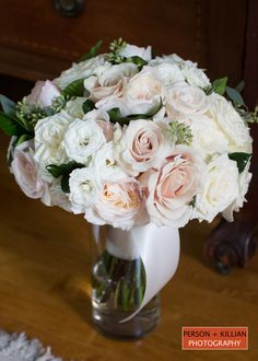 Mixed white and blush roses, Winston Flowers,  Romantic details, Boston Wedding Photographer, Boston Event Photography.