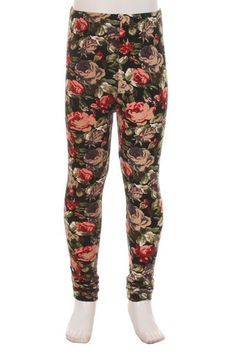 Buttery soft kids leggings Our kids leggings feature an elastic waistband and are no less soft than our adult's buttery soft leggings. Our fabric is double brushed for that buttery soft feel. Skull Leggings, Printed Leggings, Buttery Soft Leggings, Floral Fabric, Vintage Floral, Soft Fabrics, How To Look Better, Pajama Pants, Plus Size