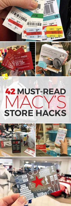 Ready to save on all the clothes, homegoods, shoes, purses and perfume Macy's? Here are 43 Must-Read Macy's Store Hacks - The Krazy Coupon Lady Store Hacks, Shopping Hacks, Saving Ideas, Money Saving Tips, Macys Coupon, Budgeting Finances, Clothing Hacks, Ways To Save, Frugal