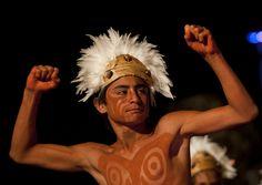 Dances During Tapati Festival In Hanga Roa Easter Island Chile