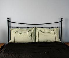 Green Tea Cat Nap Pillow case Set  300TC home decor by Xenotees, $34.00