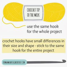 Crochet Tip of the Week - Use the Same Crochet Hook for the Whole Project • Oombawka Design Crochet