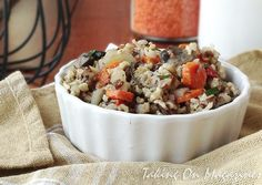 Slow Cooker Herbed Wild Rice via Taking On Magazines