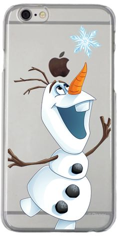 Disney Frozen Olaf Snow Flake design on iPhone 6 / 6s Clear Shield Case by Coveroo | Coveroo