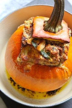 Stuffed Pumpkin | 50 Thanksgiving Foods Full Of Bacon
