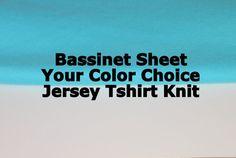 Bassinet Sheet, Tshirt Knit Bassinet Sheet, Jersey Knit Bassinet Sheet, Baby Nursery, Newborn Baby Bedding