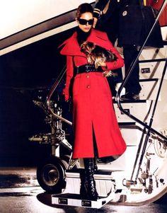 Jetsetter Style. #RedCoat #MichaelKorsCoat