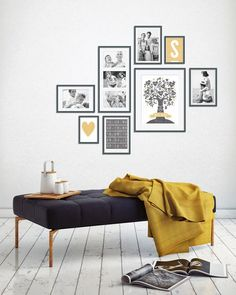 Wandcollage mit Fotos – Family-prints online selber machen bei Printcandy Source by familiethimm Gallery Wall Layout, Bedroom Decor, Wall Decor, Inspiration Wall, Home And Deco, My New Room, Frames On Wall, Wall Design, Home And Living