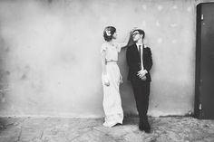adorable relaxed wedding photo with a vintage twist.