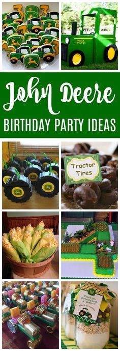 John Deere Tractor Birthday Party Ideas Pretty My Party These 20 John Deere Tractor Birthday Party Ideas are fun for any little one who loves tractors. A fun play on words is all you need to make it great! Baby Boy Birthday, Farm Birthday, 3rd Birthday Parties, 1st Birthdays, Tractor Birthday Cakes, 1st Birthday Boy Themes, Birthday Activities, Mermaid Birthday, John Deere Party