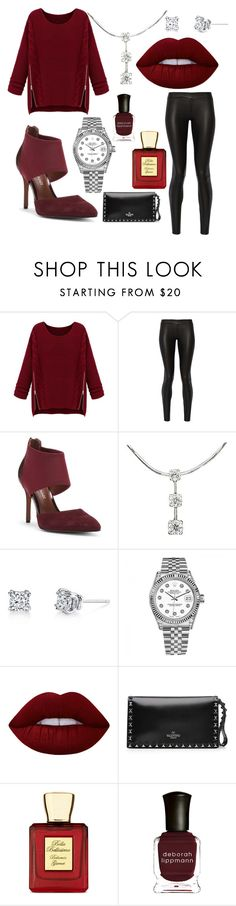 """""""Yeah Baby!!!!!!"""" by michaelmartin714 ❤ liked on Polyvore featuring WithChic, The Row, Donald J Pliner, Harry Kotlar, Rolex, Lime Crime, Valentino, Bella Bellissima and Deborah Lippmann"""