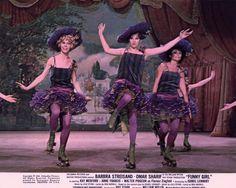 """Motion Picture Lobby Card #3 Streisand """"Roller Skate Rag"""""""