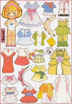 Paper dolls Maria Pascual / Paper dolls by Maria Pascual / Paper dolls / Beybiki. Clothes for dolls Paper Doll Template, Paper Dolls Printable, Barbie Paper Dolls, Vintage Paper Dolls, Felt Dolls, Doll Toys, Paper Art, Paper Crafts, Creation Deco
