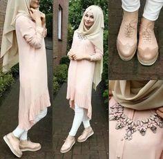 Modern Hijab Fashion, Arab Fashion, Islamic Fashion, Muslim Fashion, Girl Fashion, Fashion Outfits, Casual Hijab Outfit, Hijab Dress, Kleidung Design