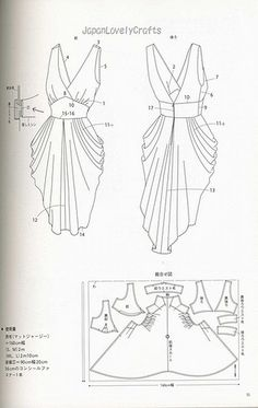 DRAPE DRAPE 1 BY HISAKO SATO - JAPANESE SEWING PATTERNS BOOK - ELEGANT AND GORGEOUS DREPE DRESS PATTERN 21 by JapanLovelyCrafts, via Flickr