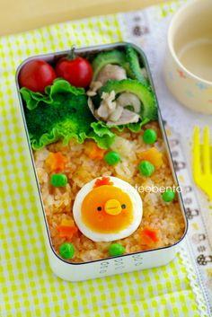 ゆで卵のひよこちゃんのキャラ弁