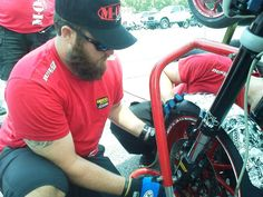 Veterans Empowered Through Motorsports crew member Dallas... two purple hearts... getting all up in AMA Pro Road Racing with M.O.B. Racing at Barber Motorsports Park.