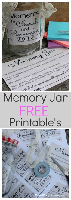 Learn how to make a memory jar as a great alternative to writing a journal. Free printable's are available to make this an easy DIY. A memory jar is. Journal Jar, Bullet Journal, Graduation Party Decor, Grad Parties, Graduation Ideas, Graduation Gifts, Graduation Quotes, Gratitude Jar, Family Memories